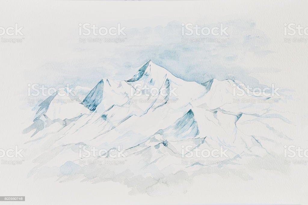Ama Dablam Everest Circuit vector art illustration