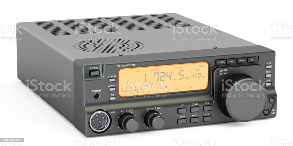 Amateur Radio Transceiver Hf 3d Rendering Stock Vector Art & More
