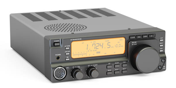 amateur radio transceiver HF, 3D rendering vector art illustration
