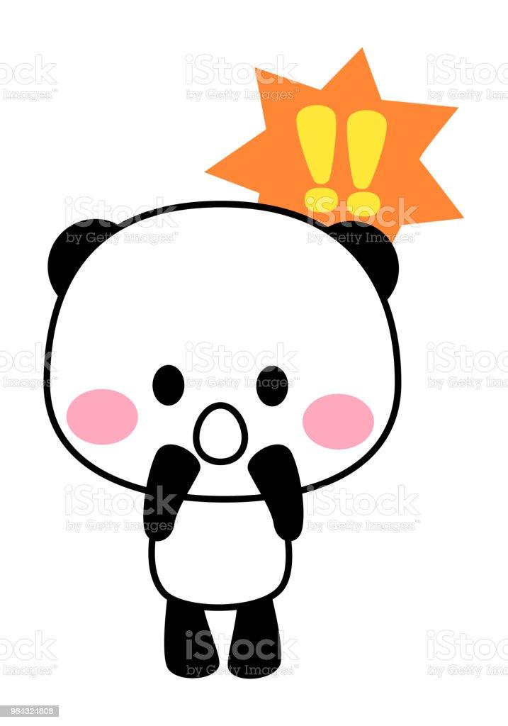 Amazing panda character vector art illustration