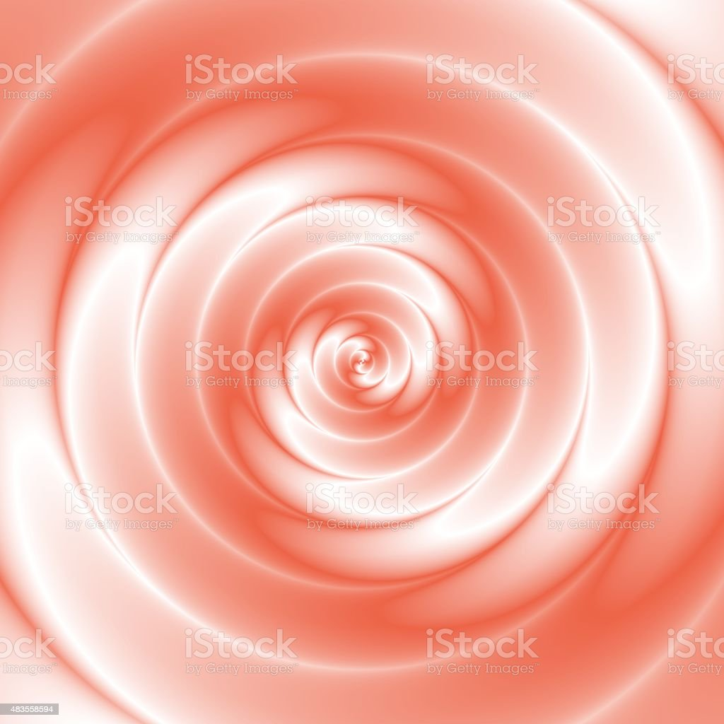 Amazing red and white colored spiral vector art illustration