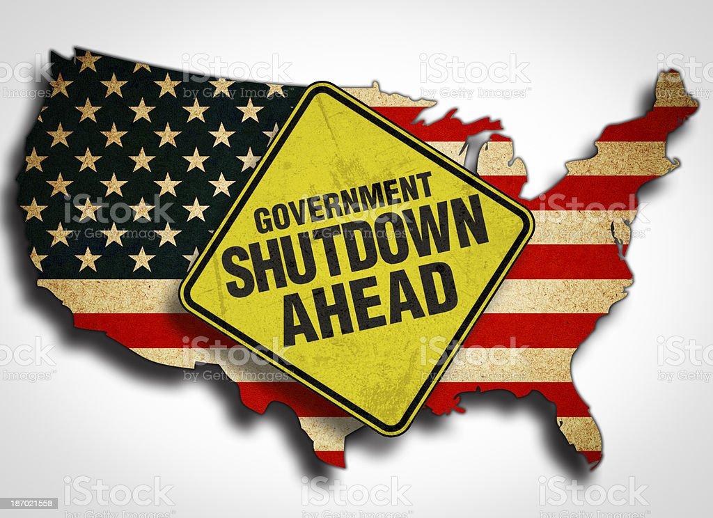 America Government Shutdown royalty-free stock vector art