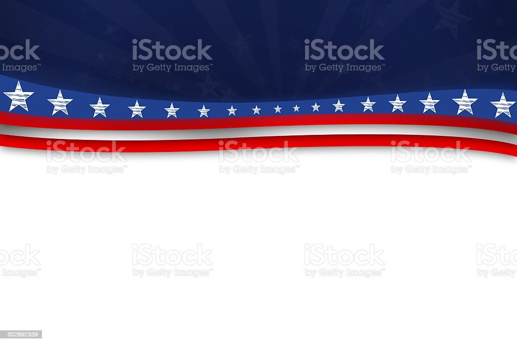 America - the land of liberty vector art illustration