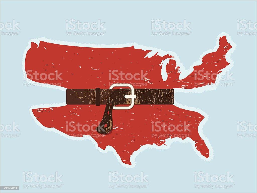 America Tightens Its Belt vector art illustration