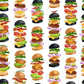 istock American Burgers seamless pattern illustration 1299516385