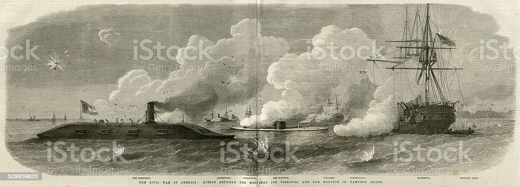 a history of the uss merrimac and the naval warfare of the american civil war When people think of the american civil war  the battle of the monitor and the merrimac watercolor of the uss monitor photo credit- wwwnaval-historynet.