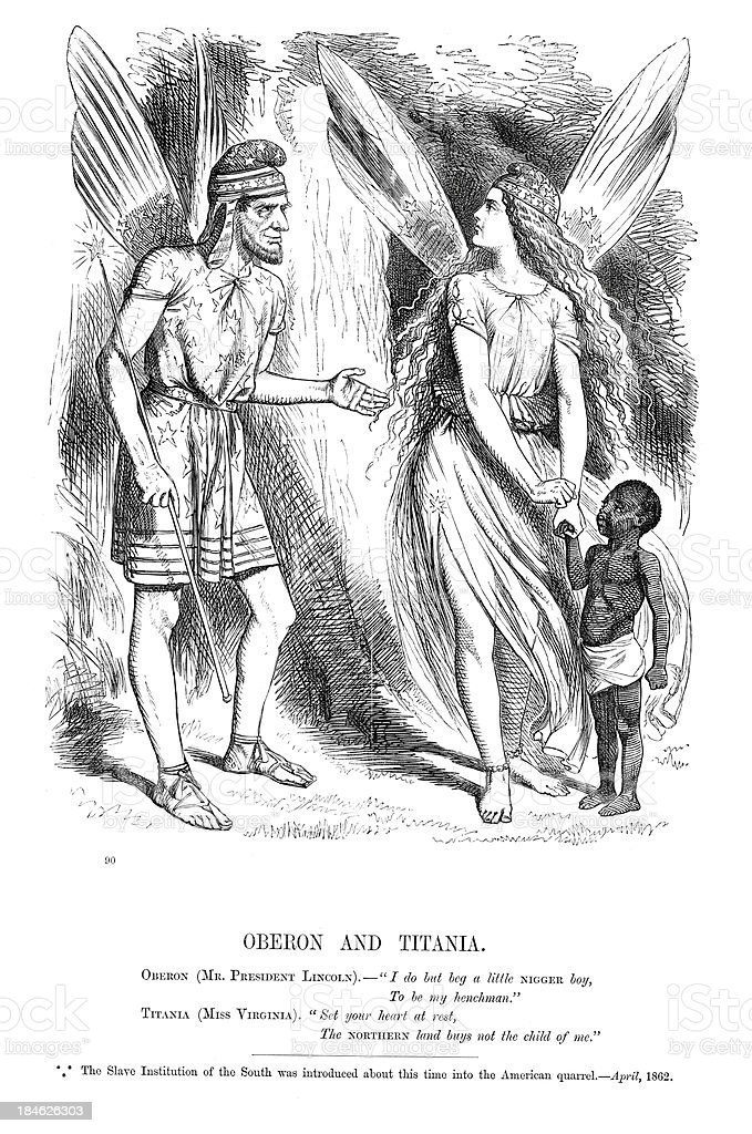 American Civil War Political Cartoon Stock Vector Art More Images