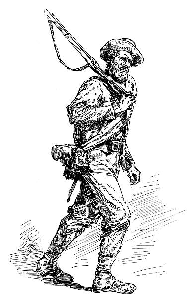 american civil war soldier - old man hats pictures stock illustrations, clip art, cartoons, & icons