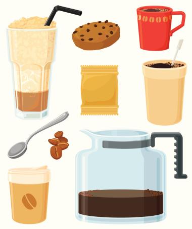 American coffee set