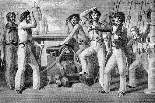 American Commodore Oliver Hazard Perry At The Battle Of Lake Erie