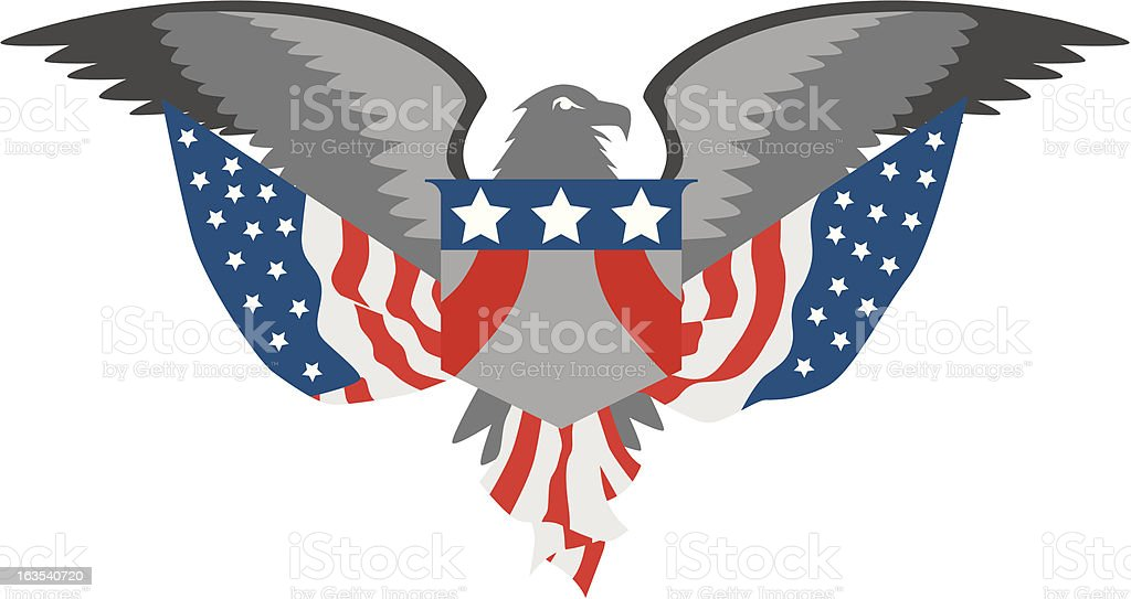 American Eagle royalty-free stock vector art