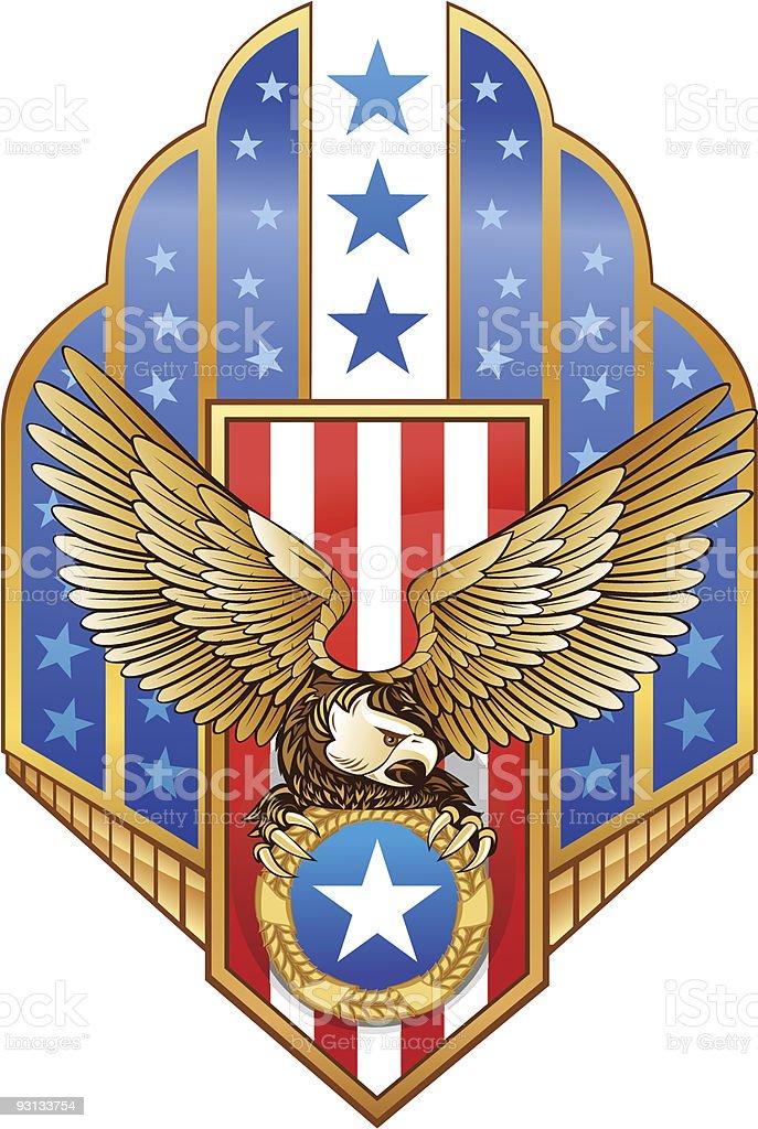American Eagle royalty-free stock vector art
