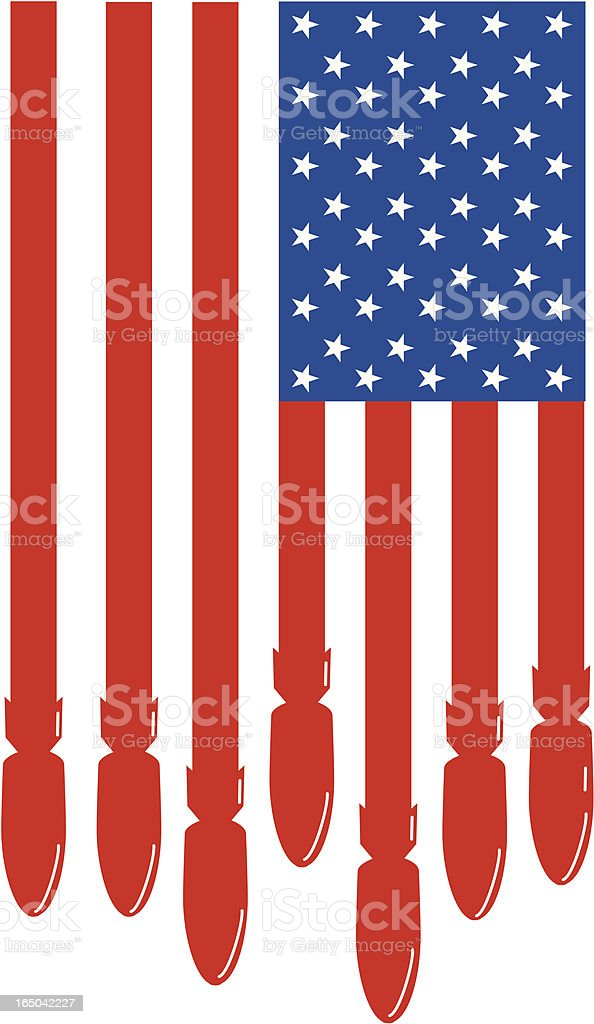 American Flag - Bombs royalty-free stock vector art