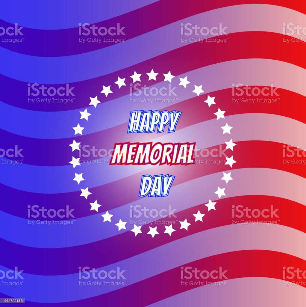 American flag for Memorial Day. US Memorial Day. royalty-free american flag for memorial day us memorial day stock vector art & more images of american culture