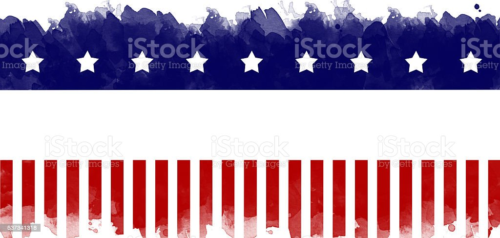 American flag grunge background vector art illustration