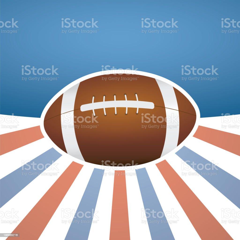 American football background - raster image royalty-free stock vector art
