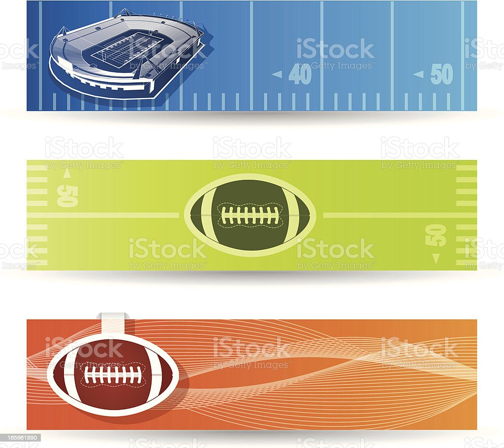 American football banners royalty-free stock vector art