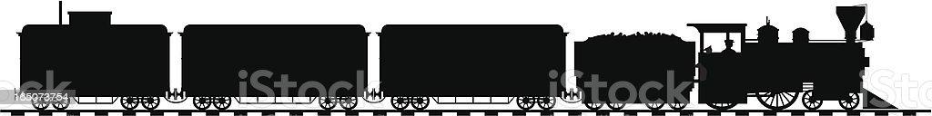 American loco vector art illustration