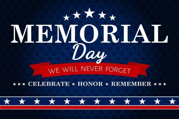 american memorial day background - memorial day stock illustrations