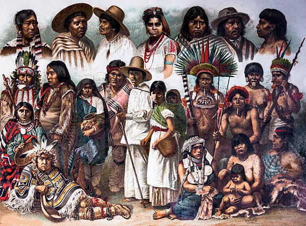 Nativos americano - ilustração de arte em vetor