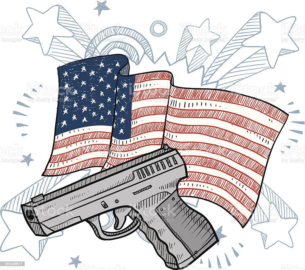 Americans love their guns sketch