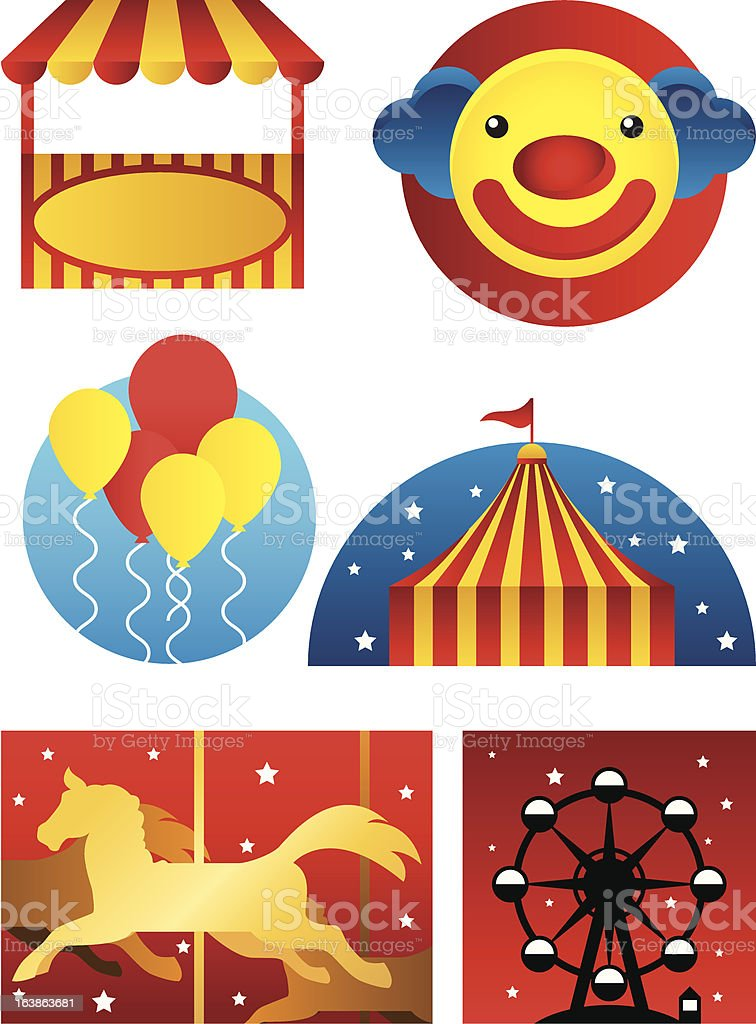 Amusement Park royalty-free stock vector art