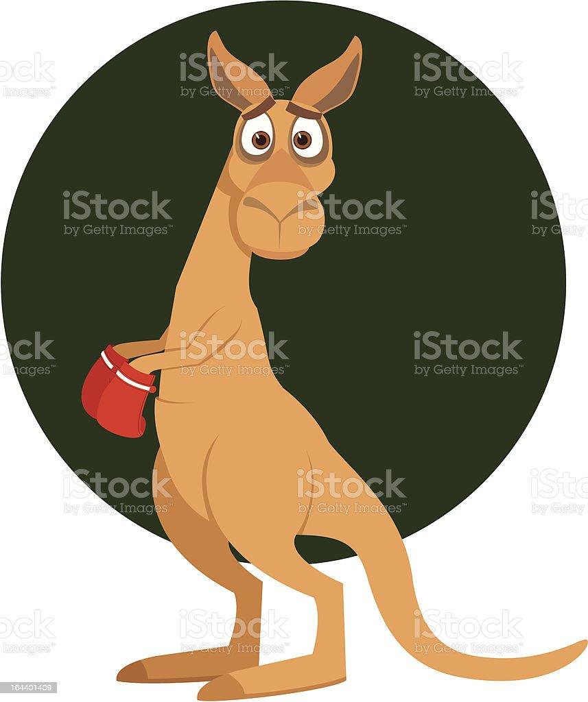 Amusing kangaroo vector art illustration