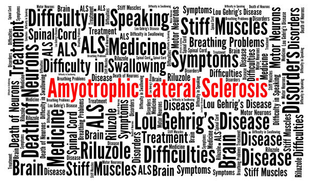 Amyotrophic Lateral Sclerosis word cloud concept Amyotrophic Lateral Sclerosis word cloud concept illustration als stock illustrations
