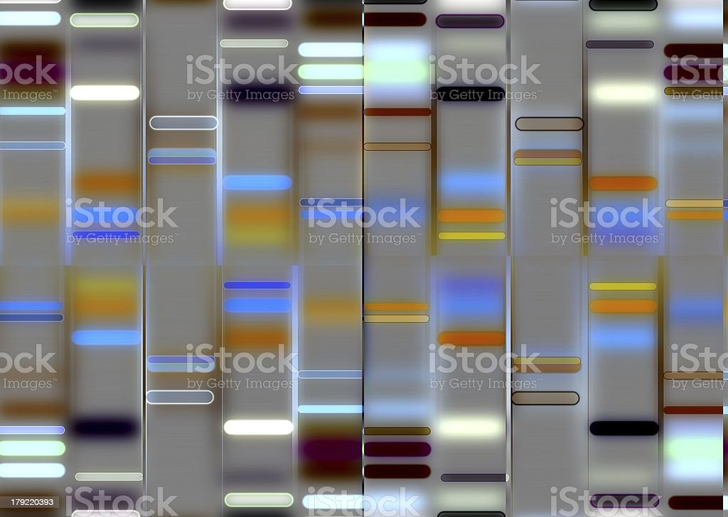 An illustration of a DNA structure vector art illustration