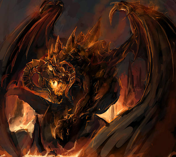 ilustrações de stock, clip art, desenhos animados e ícones de raiva do dragão - burned cooking