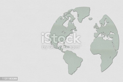 istock An image of the world made with paper on cardboard 1131180089