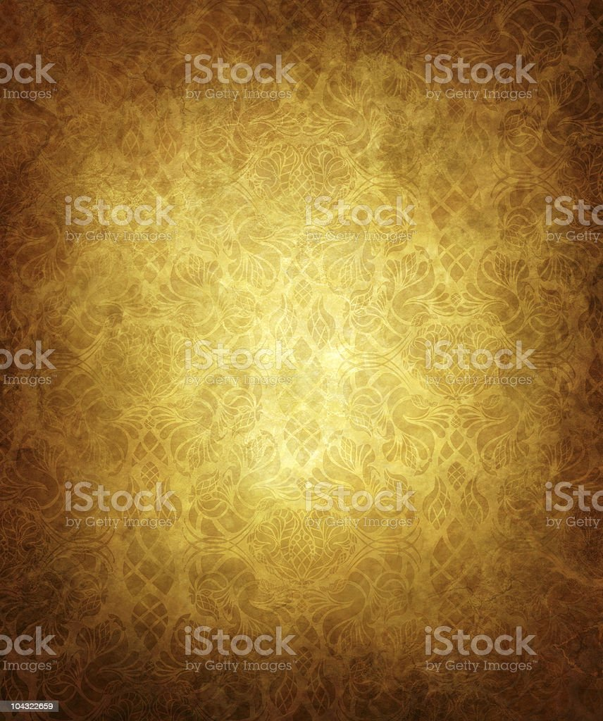 An old grunge background with blurry patterns vector art illustration