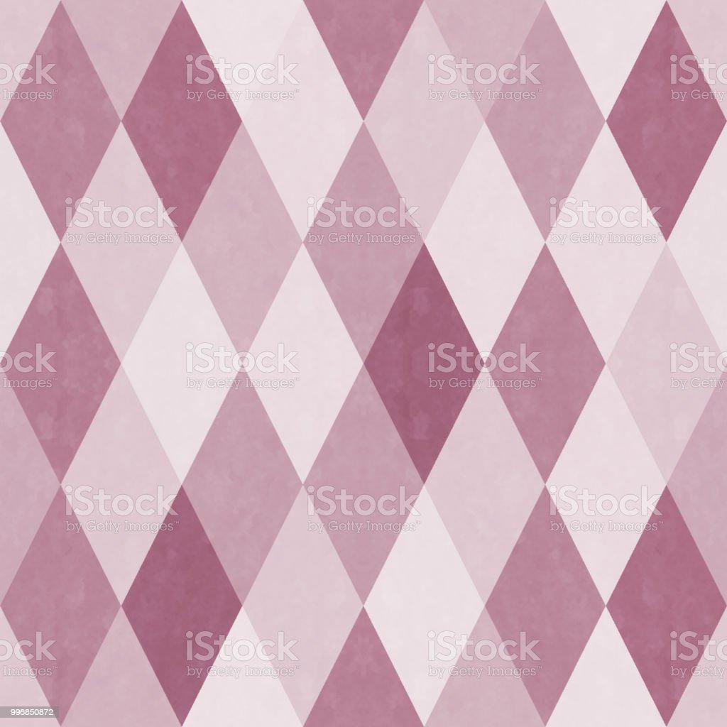 Analog style diamond pattern seamless pattern vector art illustration