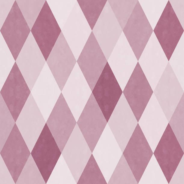 アナログ スタイルのダイヤモンド パターンのシームレス パターン ベクターアートイラスト
