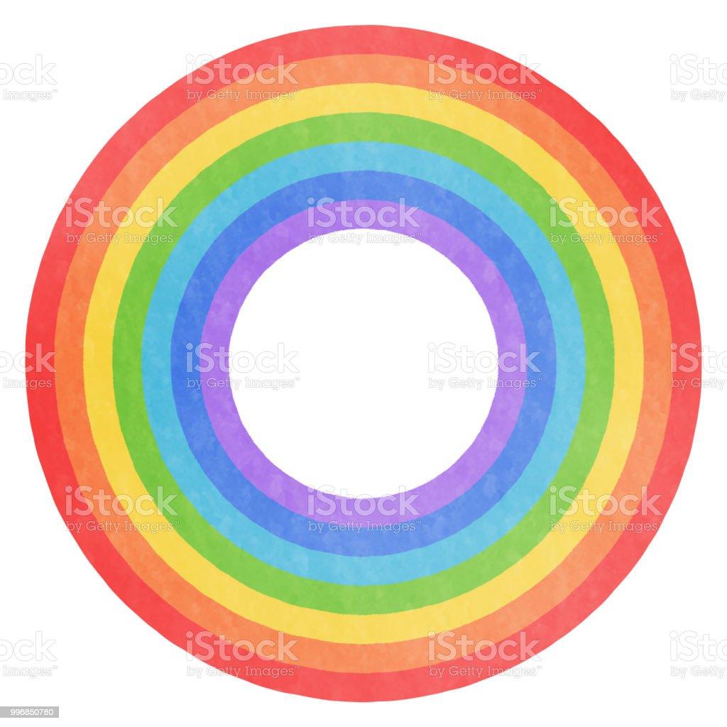Analog wind-rainy circular motif vector art illustration