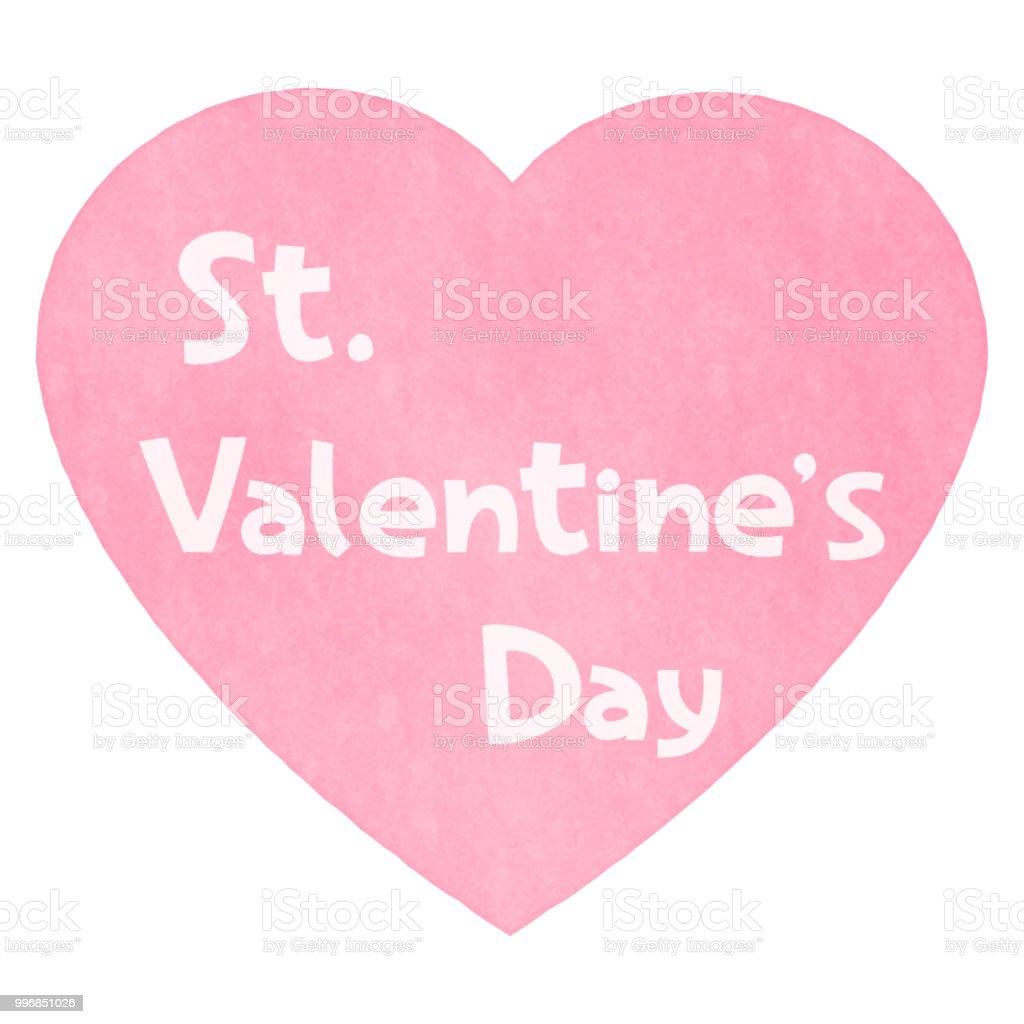 Analogous Heart and Valentine's Day Logo vector art illustration