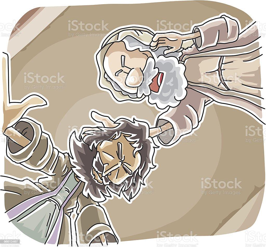 Ananias helped Saul's Conversion - Royaltyfri Be - Kommunikationssätt vektorgrafik