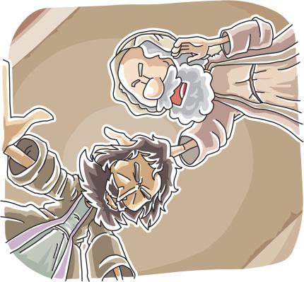 Ananias Helped Sauls Conversion-vektorgrafik och fler bilder på Be - Kommunikationssätt