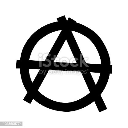 Anarchy Symbol Isolated On White Background Stock Vector Art More