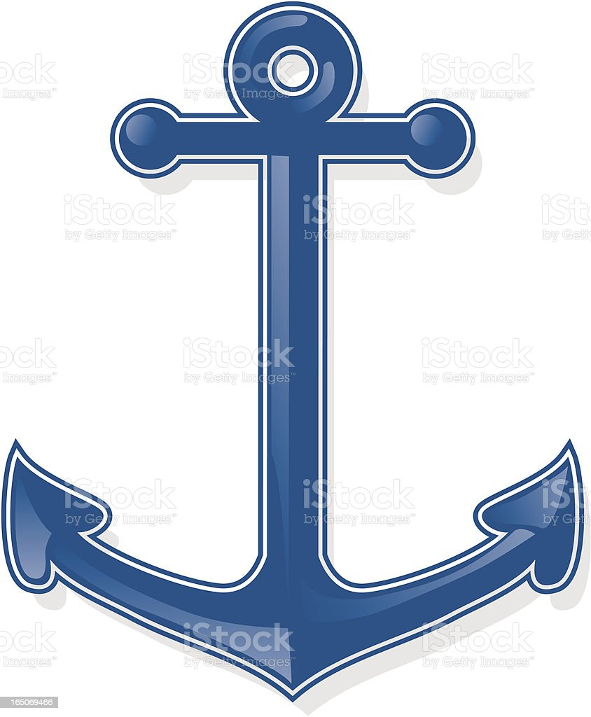 anchor royalty-free anchor stock vector art & more images of blue