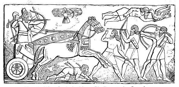 Ancient Assyrian reliefs