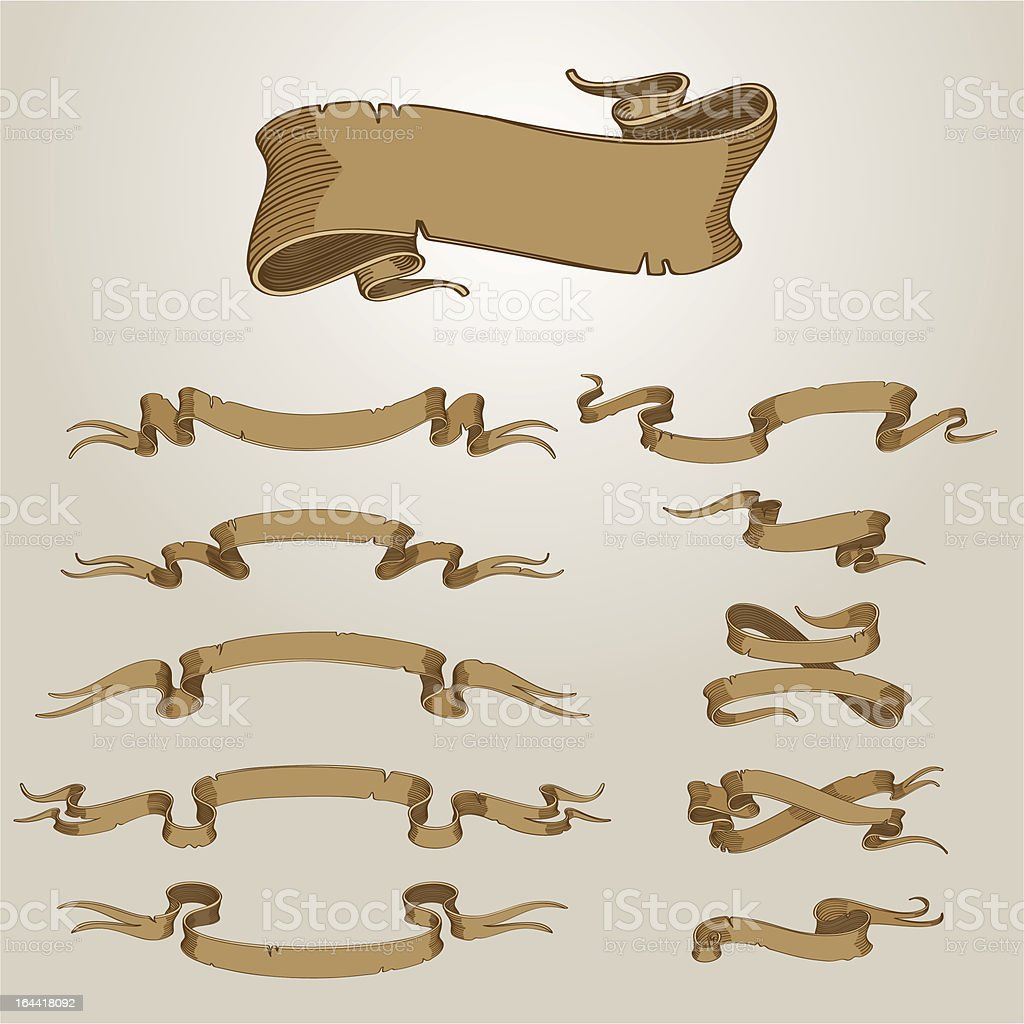 Ancient banners royalty-free stock vector art