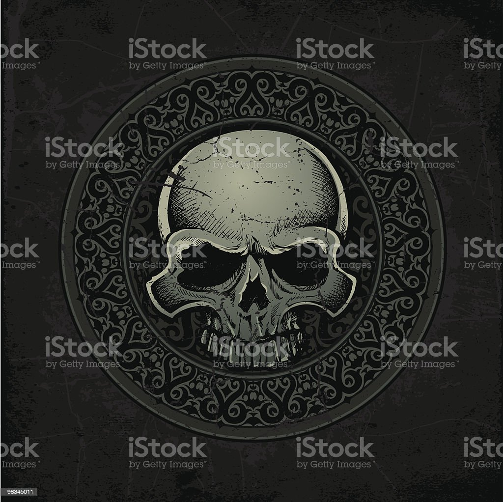 Ancient Celtic Stone Skull Medallion royalty-free ancient celtic stone skull medallion stock vector art & more images of ancient