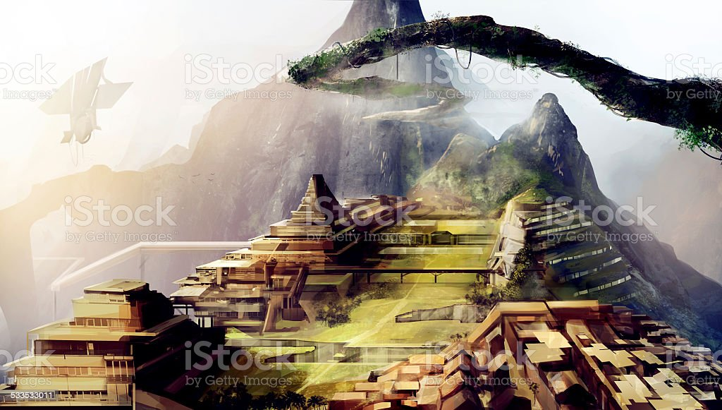 Ancient civilization art vector art illustration