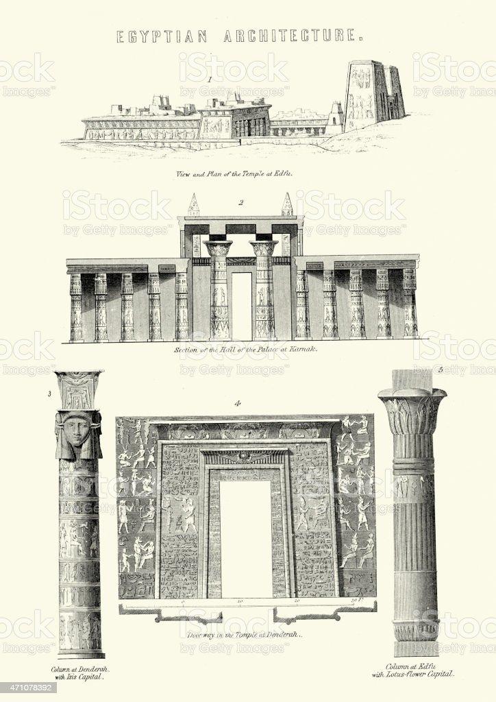 Ancient Egyptian Architecture vector art illustration