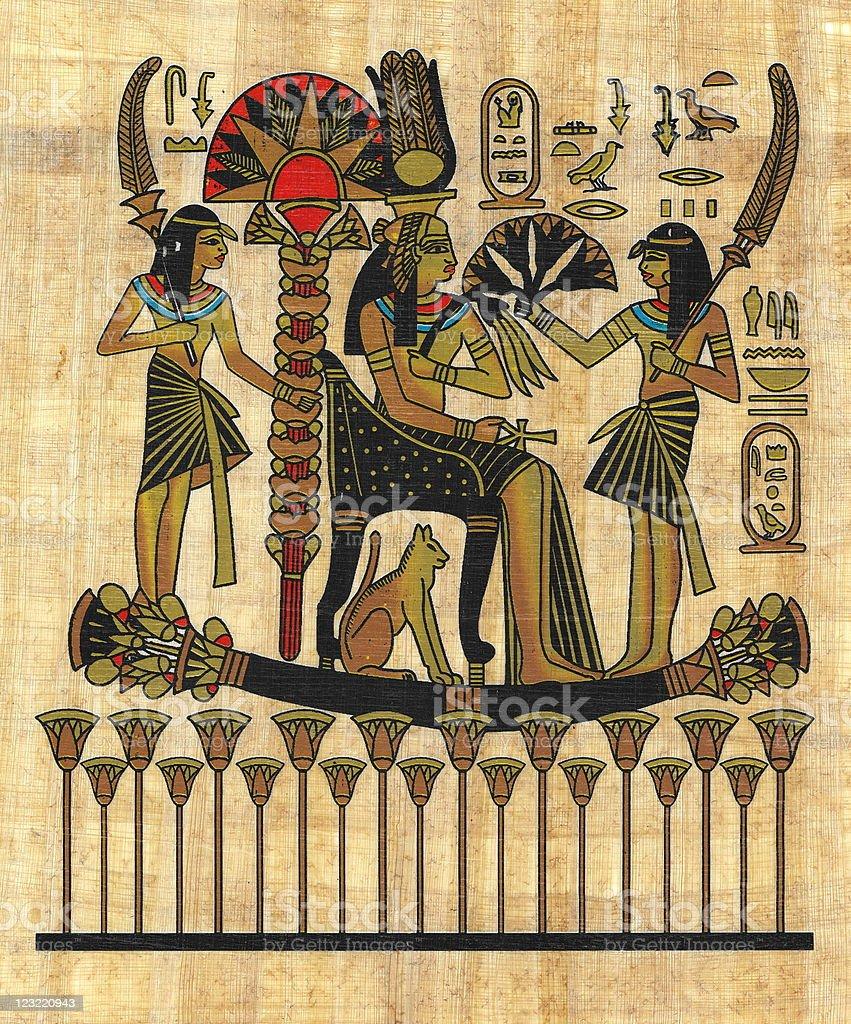 ancient Egyptian papyrus vector art illustration
