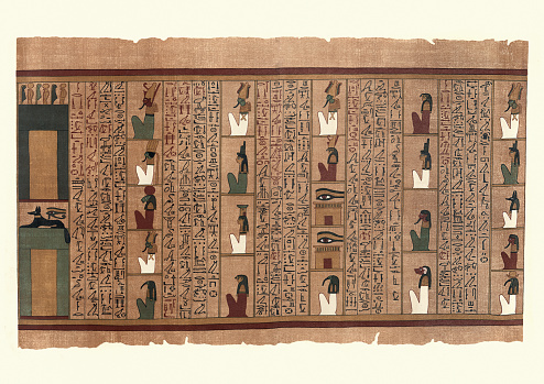 Ancient Egyptian Papyrus of Ani, Pylons and beings of power