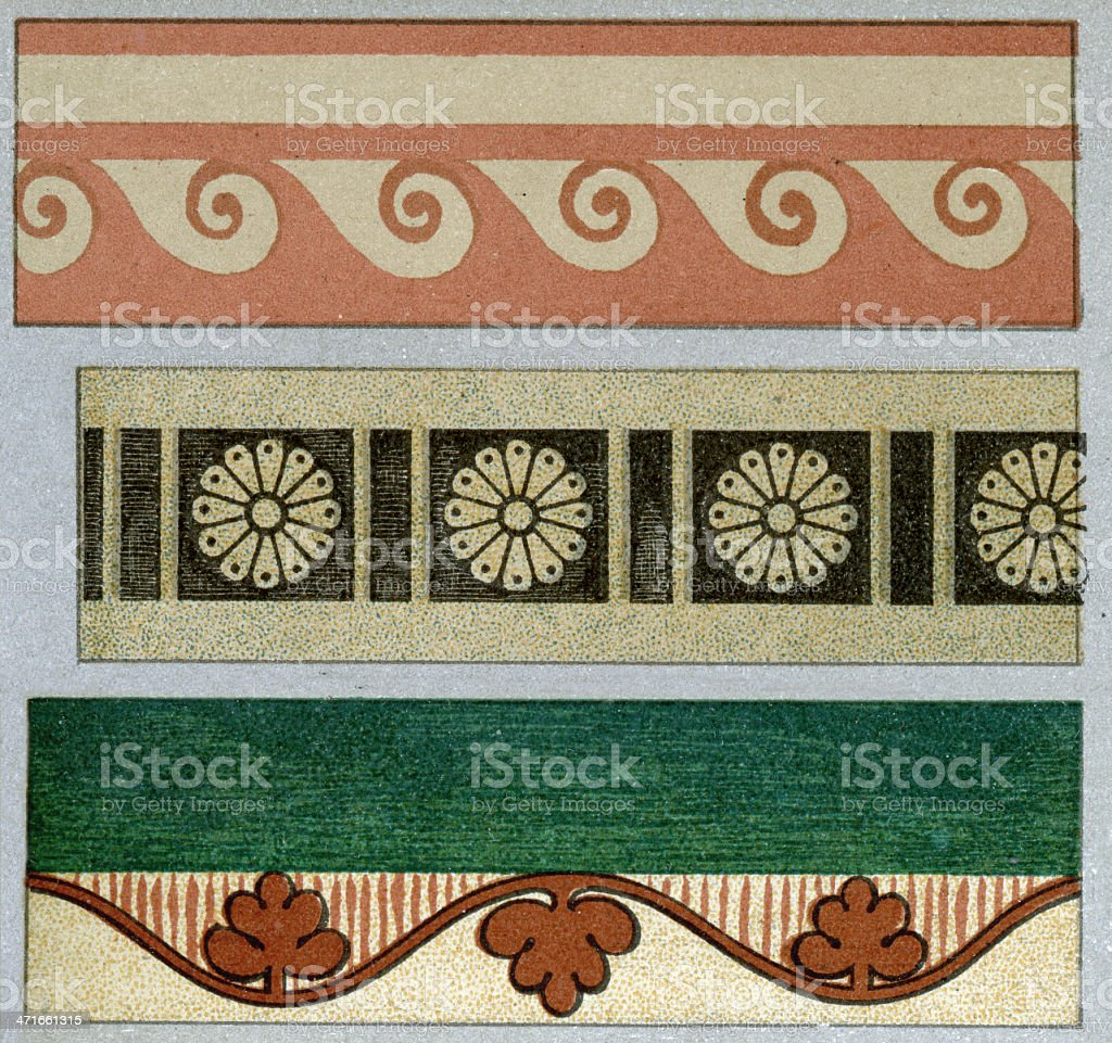 Ancient Egyptian Patterns royalty-free stock vector art
