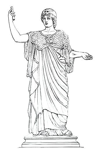 Ancient greece - portrait of Athena