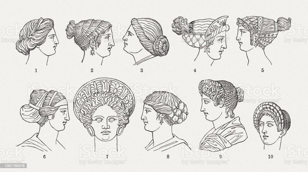 Antike Frisuren Der Griechischromischen Welt Holzschnitte